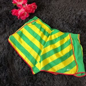 NWT NIke Dri Fit Green & Yellow Shorts